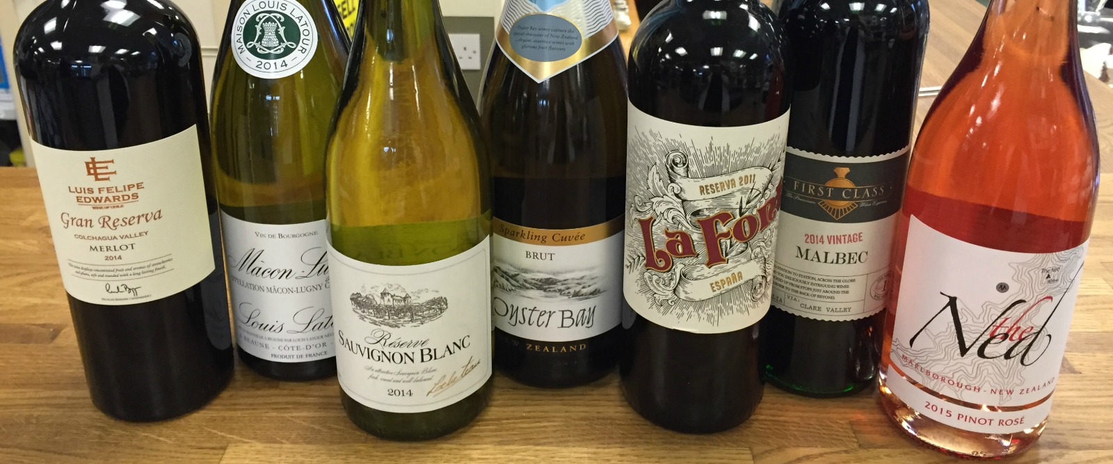 Wide range of wines in store
