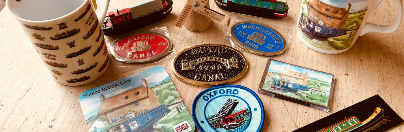 Napton and canal themed gifts.